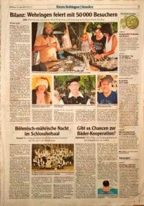Die Goldschmiede Heider auf dem Historischen Dorffest in Wehringen mit Goldschmiedevorführung Mokume-Gane-Ringe.
