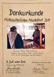 Historische Golschmiedevorführung auf dem Mittelaltermarkt
