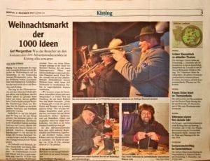 Auf dem Weihnachtsmarkt in Gut Mergenthau schmiedete die Goldschmiede Heider aus Oberottmarshausen Mokumegane Trauringe in verschiedenen Edelmetallen.