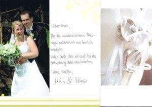 Referenz Glückliches Brautpaar mit Ihren schönen Mokume Gane Ringen