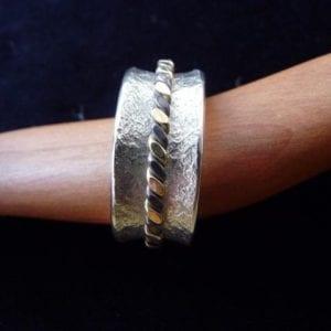 Drehring-Corinthium Aes , Gelbgold und Silber