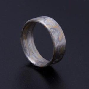 Mokume Gane Ring Wabi Sabi