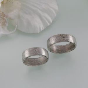 Spiegelbildliche Mokume Gane Ringe