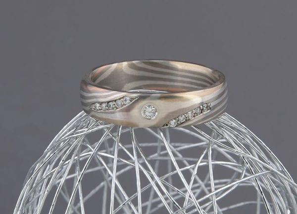 Mokume Gane Ring Stella Luna