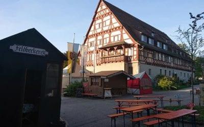 Heute ist  nochmal in Kloster Lorch der schöne Mittelaltermarkt ausgehend von der Falknerei.