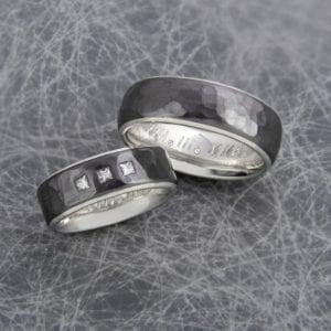 Werbeaufnahme Ringe mit Gravur